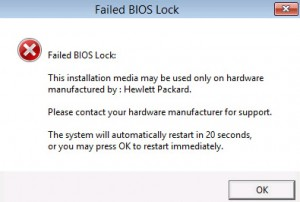 Failed Bios Lock when installing Windows 2012 ROK on VMware